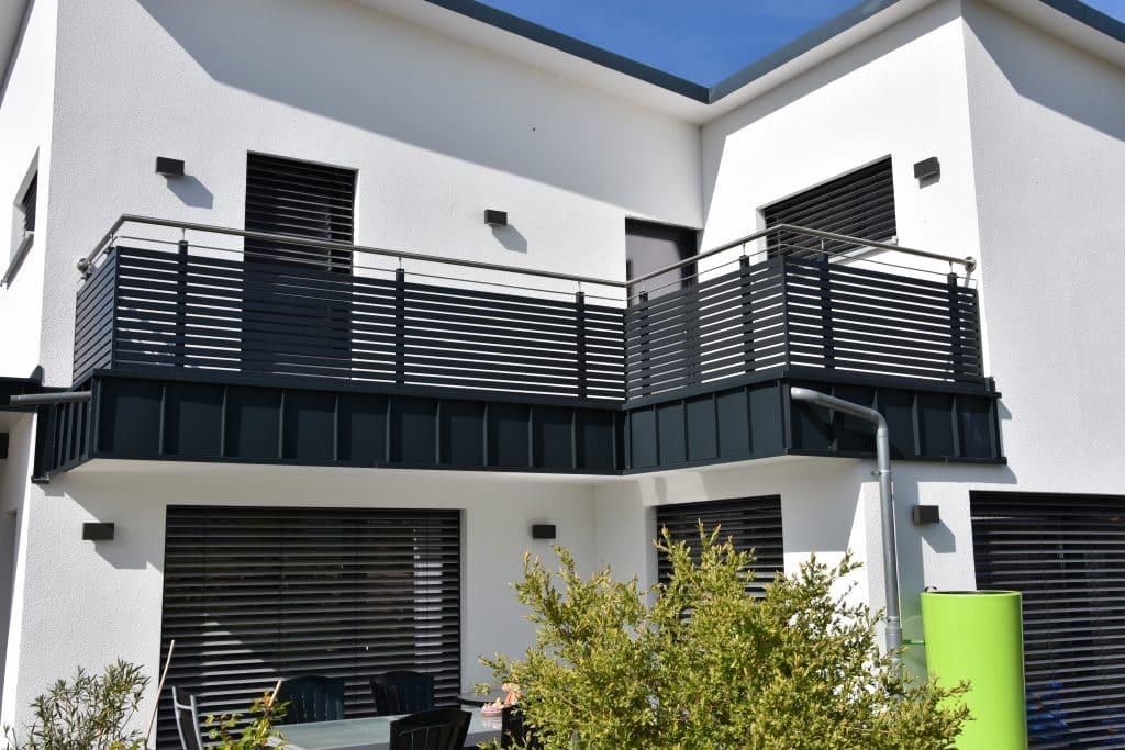 Referenz Giebelstadt - Aluminium Balkongeländer